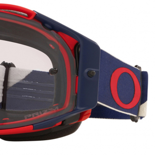 Oakley Airbrake Heritage B1B Red Navy Prizm Low Light MX Goggles Image 4