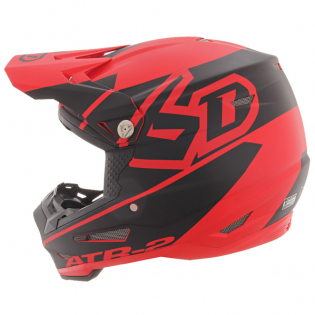 6D ATR-2 Core Red Black Helmet Image 2