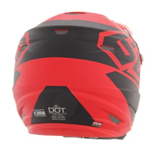 6D ATR-2 Core Red Black Helmet Image 3