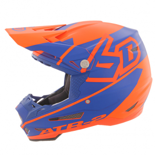 6D ATR-2 Core Orange Blue Helmet Image 2