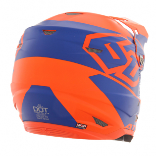 6D ATR-2 Core Orange Blue Helmet Image 3