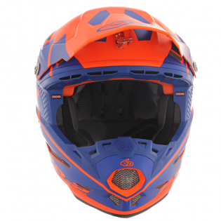 6D ATR-2 Core Orange Blue Helmet Image 4