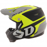 6D ATR-2 Helo Yellow Grey Helmet