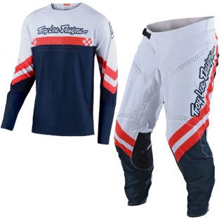 Troy Lee Designs SE Ultra Factory White Navy Pants Image 2