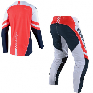 Troy Lee Designs SE Ultra Factory White Navy Pants Image 4
