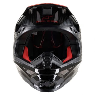 Alpinestars Supertech SM10 Alloy Black Orange Flo Red Helmet Image 2