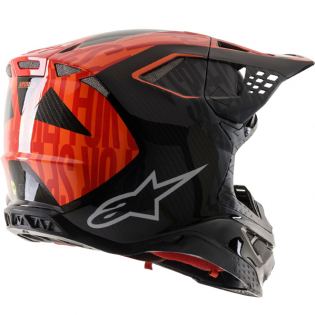 Alpinestars Supertech SM10 Alloy Black Orange Flo Red Helmet Image 3
