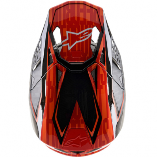 Alpinestars Supertech SM10 Alloy Black Orange Flo Red Helmet Image 4