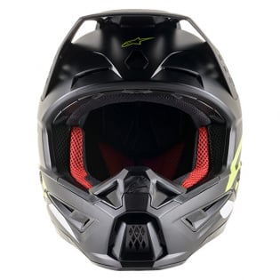 Alpinestars Supertech SM5 Compass Matt Black Yellow Helmet Image 2