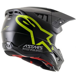Alpinestars Supertech SM5 Compass Matt Black Yellow Helmet Image 3