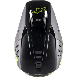 Alpinestars Supertech SM5 Compass Matt Black Yellow Helmet Image 4
