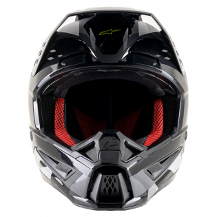 Alpinestars Supertech SM5 Rover Gloss Grey Yellow Camo Helmet Image 2