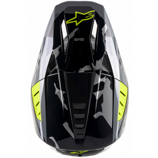 Alpinestars Supertech SM5 Rover Gloss Grey Yellow Camo Helmet Image 4