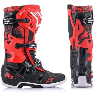 Alpinestars Tech 10 Red Black Boots Image 2