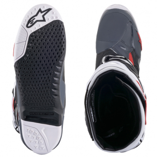 Alpinestars Tech 10 Supervented Black White Grey Red Boots Image 3