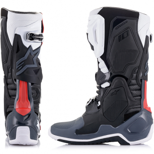 Alpinestars Tech 10 Supervented Black White Grey Red Boots Image 4