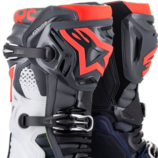 Alpinestars Tech 10 Dark Grey Blue Red Flou Boots Image 2