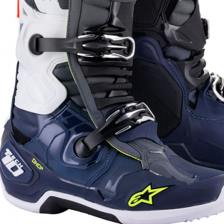 Alpinestars Tech 10 Dark Grey Blue Red Flou Boots Image 4