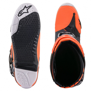 Alpinestars Tech 10 Cool Grey Orange Flou Boots Image 3