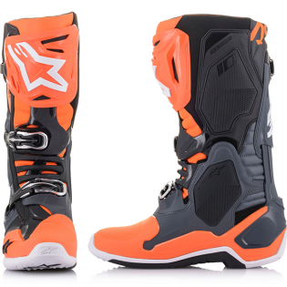 Alpinestars Tech 10 Cool Grey Orange Flou Boots Image 4