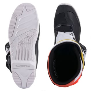 Alpinestars Tech 3 Boots - Black White Red Flou Yellow Image 3