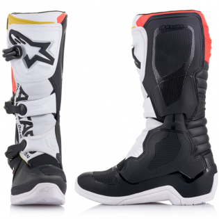 Alpinestars Tech 3 Boots - Black White Red Flou Yellow Image 4