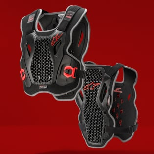 Alpinestars Bionic Action Black Red Chest Protector Image 3