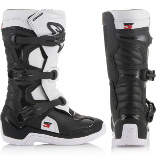 Alpinestars Youth Boots Tech 3S - Black White Image 4