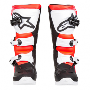 Alpinestars Youth Boots Tech 3S - Black White Flo Red Image 2