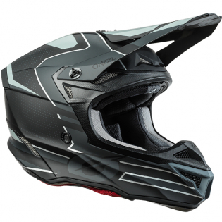 ONeal 5 Series Sleek Black Grey Motocross Helmet Image 2