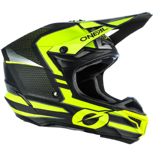 ONeal 5 Series Sleek Black Neon Yellow Motocross Helmet Image 2