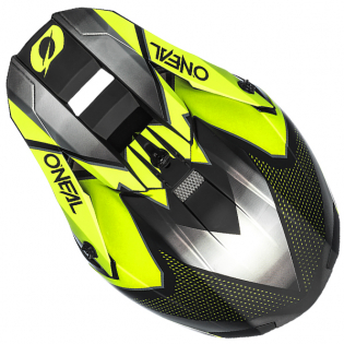 ONeal 5 Series Sleek Black Neon Yellow Motocross Helmet Image 3