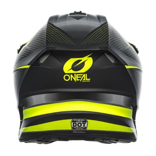 ONeal 5 Series Sleek Black Neon Yellow Motocross Helmet Image 4