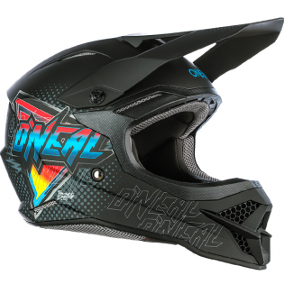 ONeal 3 Series Speedmetal Black Multi Motocross Helmet Image 2
