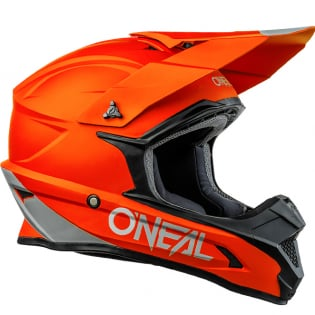 ONeal 1 Series Solid Orange Motocross Helmet Image 2