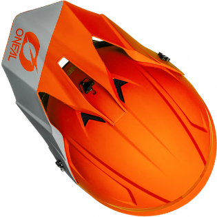 ONeal 1 Series Solid Orange Motocross Helmet Image 3