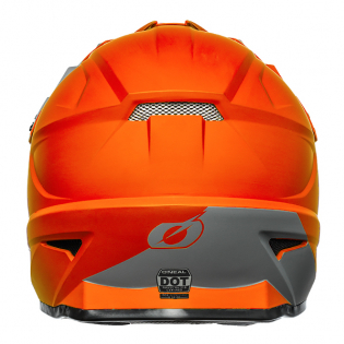 ONeal 1 Series Solid Orange Motocross Helmet Image 4