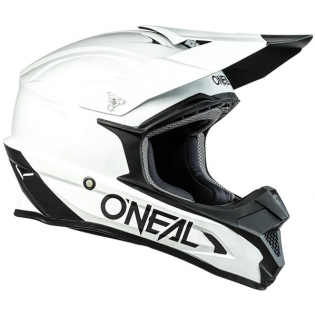 ONeal 1 Series Solid White Motocross Helmet Image 3