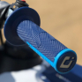 ODI EMIG Pro V2 Lock On Navy Blue Cyan Motocross Grips