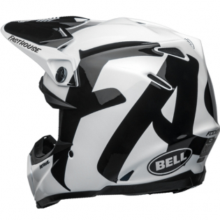 Bell Moto 9 Carbon Flex Fasthouse Newhall White Black Helmet  Image 2