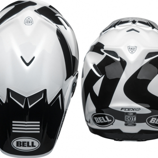 Bell Moto 9 Carbon Flex Fasthouse Newhall White Black Helmet  Image 3