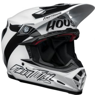 Bell Moto 9 Carbon Flex Fasthouse Newhall White Black Helmet  Image 4