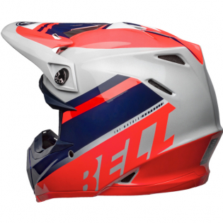 Bell Moto 9 MIPS Prophecy Gloss Infrared Navy Gray Helmet Image 2