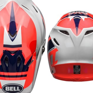 Bell Moto 9 MIPS Prophecy Gloss Infrared Navy Gray Helmet Image 3