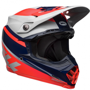 Bell Moto 9 MIPS Prophecy Gloss Infrared Navy Gray Helmet Image 4