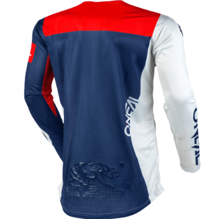 ONeal Airwear Freez Grey Blue Red Vented Jersey Image 2