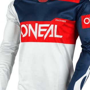 ONeal Airwear Freez Grey Blue Red Vented Jersey Image 3