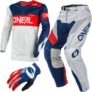 ONeal Airwear Freez Grey Blue Red Vented Jersey Image 4
