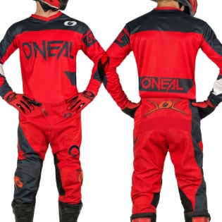 ONeal Element Racewear Red Grey Jersey Image 3