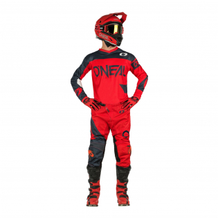ONeal Element Racewear Red Grey Jersey Image 4
